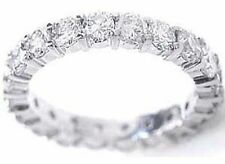 1.39 ct Round Diamond Ring Eternity Band size 7.5, 14k Gold F-G color Vs clarity