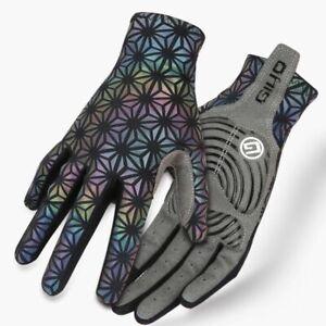 Full Finger Cycling Gloves Anti-slip MTB Mitten Reflection Road Bike Motorcycle