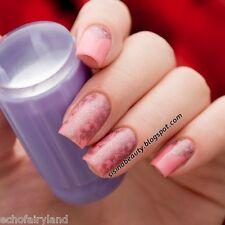 2pcs/set Nail Art Stamping Stamper Scraper Jelly Purple Silicone Marshmallow DIY