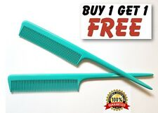 """Azul Mar barberos Plastic Pin Cola Comb 8"""" Cola de rata Peine Calidad Profesional UK"""