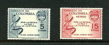 Colombia 1954  #622, C255  soldier map & arms    2v.   MNH   H493