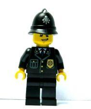 LEGO Boy Man Minifigure Figure Police Policeman Officer Constable Black Suit