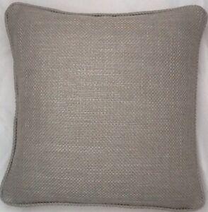 A 16 Inch cushion cover in Laura Ashley Dalton French Grey fabric