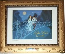 "DELUXE FRAME hand signed ""REAL"" Cinderella 1950 Disney Voice Ilene Woods Dreams"
