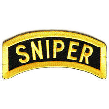 Embroidered Sniper Rocker Sew or Iron on Patch Biker Patch
