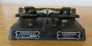 Vintage Griswold 16mm Film Splicer Model R-3 by Neumade Products Corp.