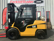 2014 Caterpillar Fg33n Lp 7000lb Pneumatic Tire Forklift With Full Cab And Heat