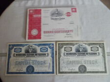Canceled Stock Certifacates Lot of 4 Int. Telephone & Telegraph/Western Union