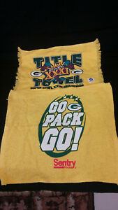 NFL Green Bay Packers Super Bowl XXXI Champs Towel & Go Packers Go Lot Of 2