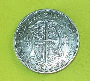1928 Silver HALF CROWN Coins George V (Combine Postage) a