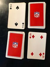 Vintage Red NFL Football Playing Cards