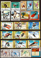 72T4 PAYS DU GOLFE PERSIQUE 22 timbres oblit Tous les sports des jeux d'hiver