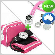 QUALITY Stethoscope + Sphygmomanometer PINK KIT