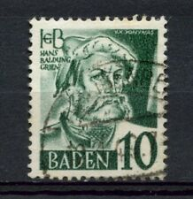 Baden 1948-9 SG#FB33 10pf Hans Baldung Grien Used #A3856