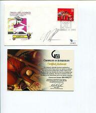 Mark Crear Olympic Silver Bronze Track & Field Hurdler Signed Autograph FDC COA