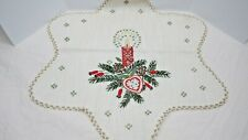 Table Top Dresser Scarf Embroidered for Christmas Season