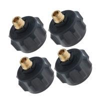 4pcs Propane Regulator Valve Fitting Adapter 1/4'' Male Pipe Thread Fitting