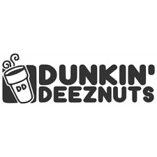 """5"""" Dunkin deez nuts jdm decal stance lowered static kdm funny car buy 2 get 1"""