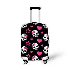 """Skull Elastic Dust-proof Travel Spandex Luggage Cover Suitcase Protector 18""""-30"""""""