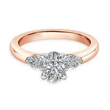 2.50 Ct Oval Cut Beautiful Diamond Engagement Wedding Rings 14K Rose Gold Size J