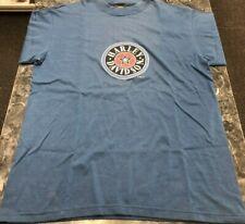 Vintage T Shirt - Harley Davidson Logo Blue Size L 1996 90's Motorcycle