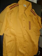 Nos 1950's-60's King Louie Gold +Yellow Brown Red Orange Shirt-Jac Rockabilly Ml