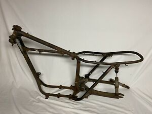 1969 Unit TRIUMPH 650 Tiger T120 TR6 OEM Chassis Front Hoop and Rear Frame