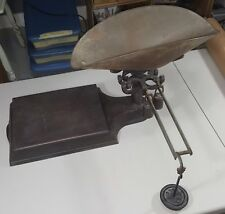 Vintage Cast Iron Store Platform Balance Scale RARE