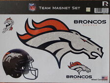 Denver Broncos Colorful Team Magnet Set Lic. NFL Football 11x8 Made in USA