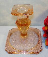 Pink Depression Glass Jeannette Adam Candlestick
