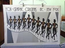 1982 Bruce McGaw Fox Graphic Originals Inc. New York City Rockettes Art Poster