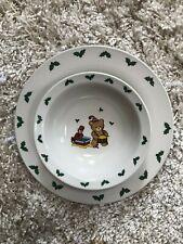 VINTAGE KIDS Studio Nova Beary Dinner cereal Teddy Bear dinner plate Christmas