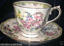 ROYAL ALBERT COUNTRY BOUQUET COLLECTION DAWN'S GLORY CUP & SAUCER 8 OZ