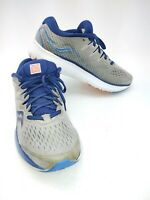 Saucony Mens Ride ISO 2 S20514-1 Gray Blue Running Shoes Lace Up Size 8