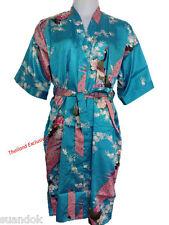 Ladies Silk Kimono. Dressing Gown Robe One Size Fits Regular Attractive Design.