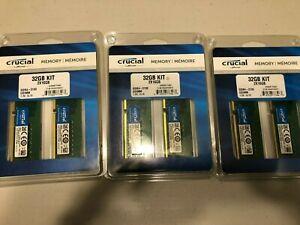 Crucial 32GB (2X16GB) DDR4 2133 MT/s (PC4-17000) DIMM 288-Pin Memory