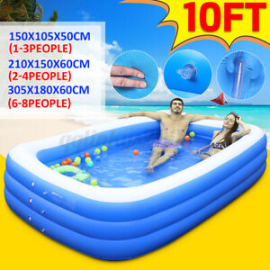Children Kids Adult Inflatable Swimming Pool Family Above-Ground Pools 3-Layer