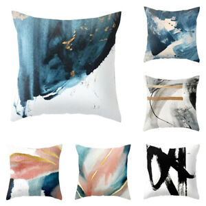 Linen Abstract Pillow Case Oil Painting Throw Pillow Cushion Cover Home Decor 8