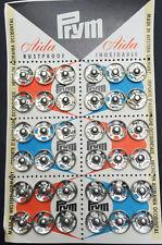 36 PRYM 1,2 cm de grande BOTONES A PRESIÓN - Tienda Vintage Tarjeta De Expositor