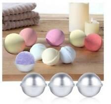 6 pcs 3 size Aluminum Bath Bomb Molds DIY Bath Fizzy Sphere Round Ball Molds
