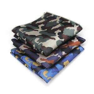 Fashion Men's Handkerchief Pocket Square Camouflage printing Suit Hankies Gift