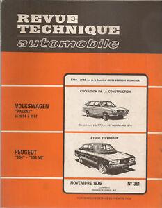 REVUE TECHNIQUE AUTOMOBILE 361 RTA 1976 PEUGEOT 604 PEUGEOT 504 V6 VW PASSAT
