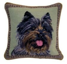 "Cairn Terrier Dog Needlepoint Pillow 10""x10"" NWT"