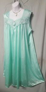"""Only Necessities Green Nightgown Sleeveless Calf Plus 2X Gift 60"""" BUST B3G1 FREE"""