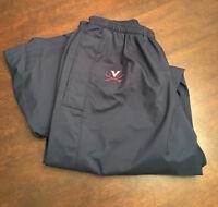 Virginia UVA Cavaliers Men's Swimming Team Issued Nike Fit Blue Warmup Pants XL