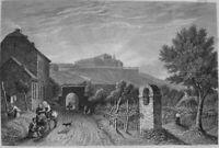 Germany ASCHAFFENBURG SCHLOSS JOHANNISBURG CASTLE ~ Old 1838 Art Print Engraving