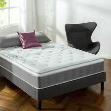 """Zinus12"""" Support Plus Pocket Spring Hybrid Mattress with Extra Firm Feeling Full"""