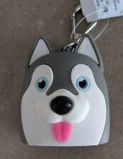 1 Bath & Body Works Pocket. *Bac Holder with Clip/Keychain, Cute Husky Dog New!