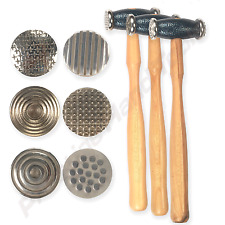 Texturing Hammer Textured metal design tools jewelers Set of 3 double side#1058