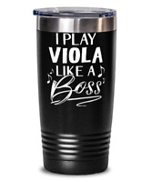 Funny Gift for Viola Player Tumbler Mug Black 20oz Vacuum Insulated Stainless St